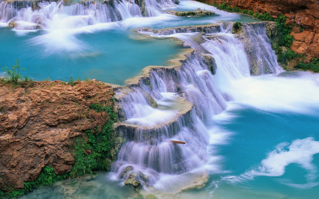 blue-water-waterfalls